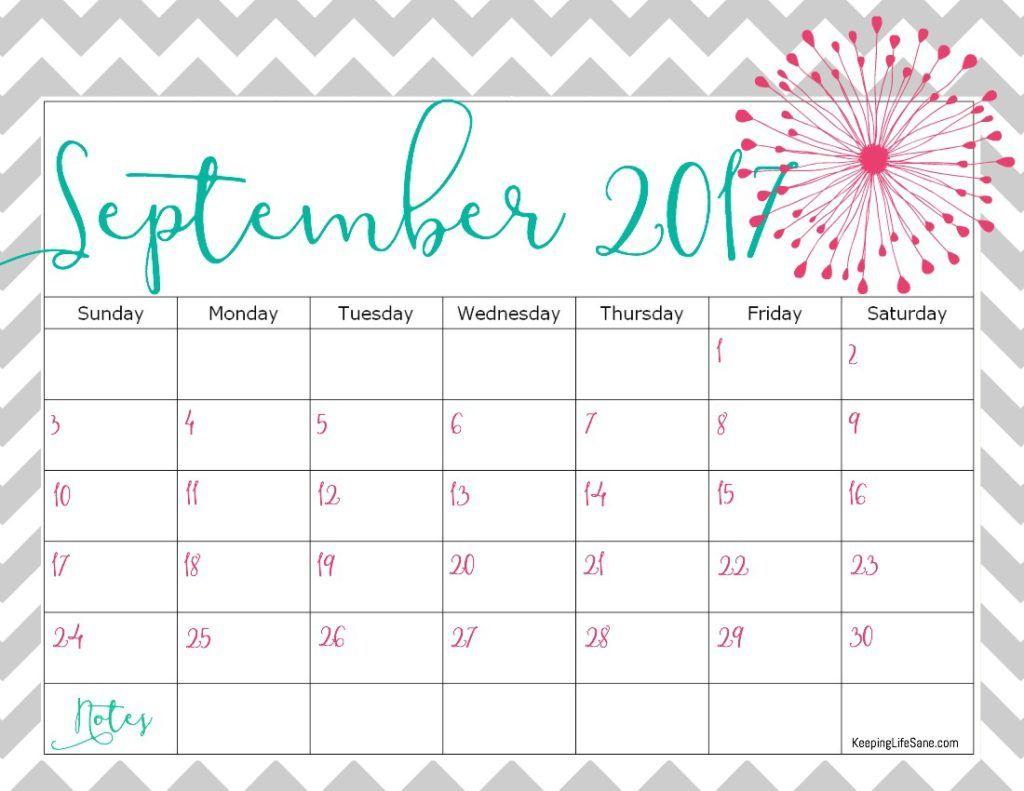 2017 September Calendar Planner – September printable calendars