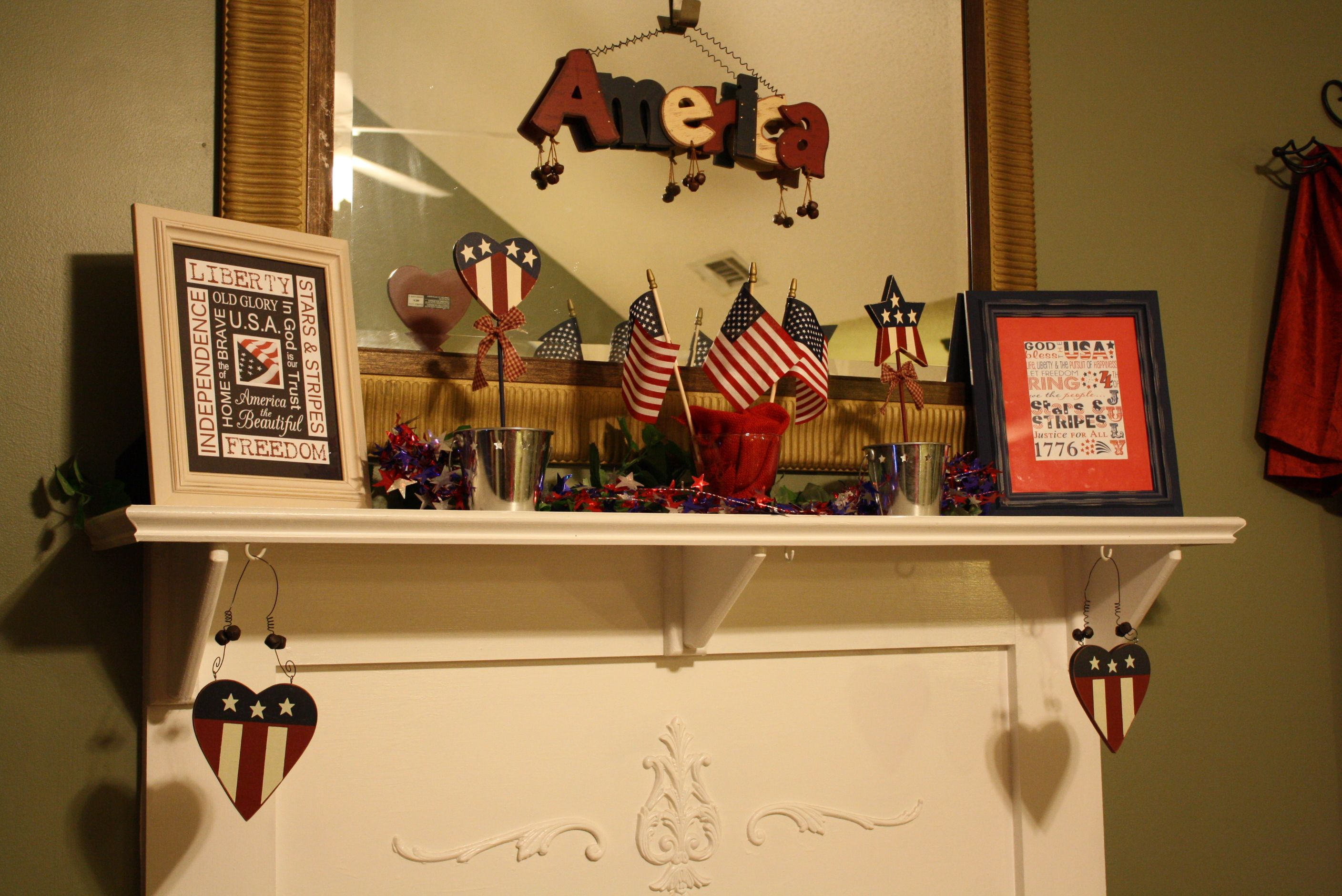fourth of july mantel decorations
