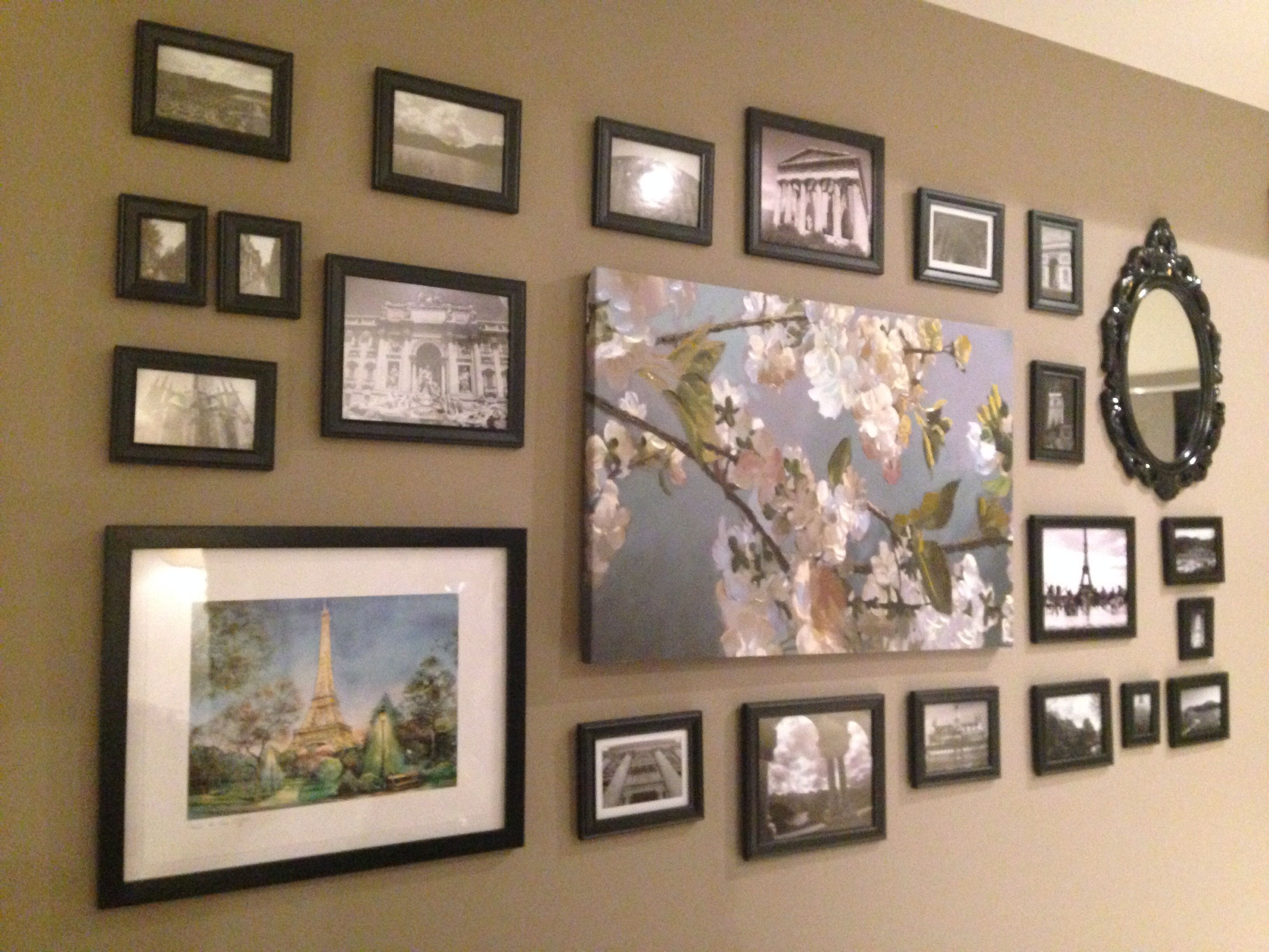 my finished wall photo collage diy pinterest. Black Bedroom Furniture Sets. Home Design Ideas
