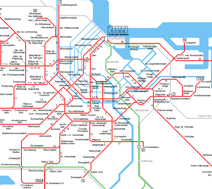 tram map amsterdam - Google Search | Amsterdam | Pinterest ...