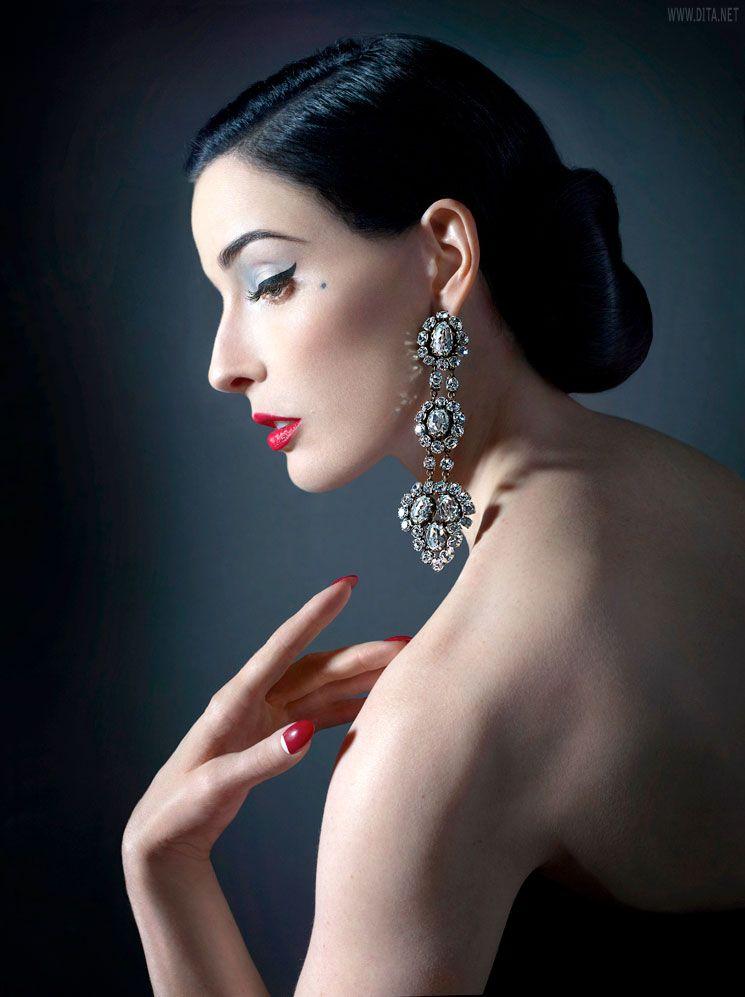 Dita von Teese. earring | Burlesque..Beauties..Boudoir | Pinterest Dita