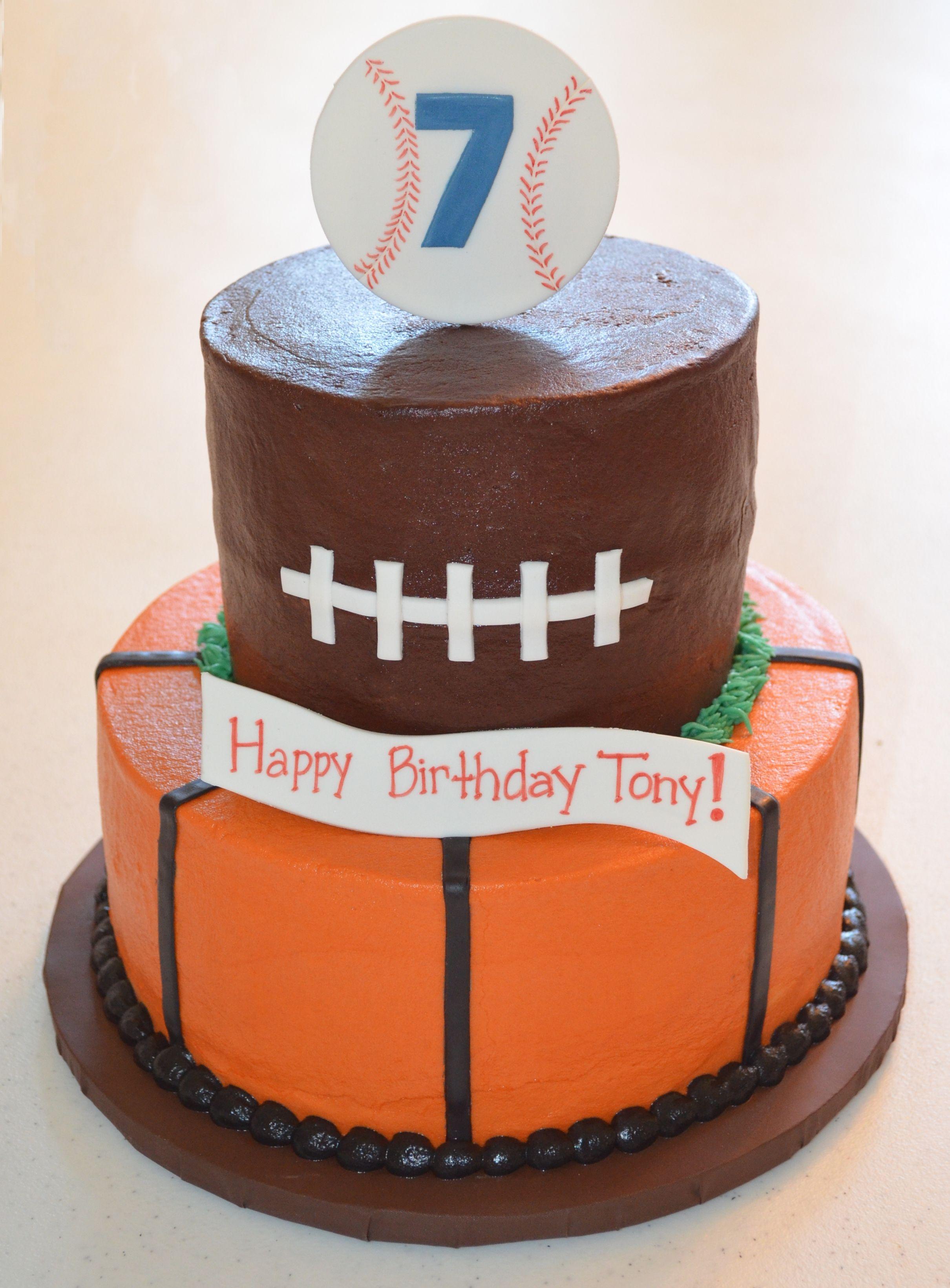 sports themed cakes photos