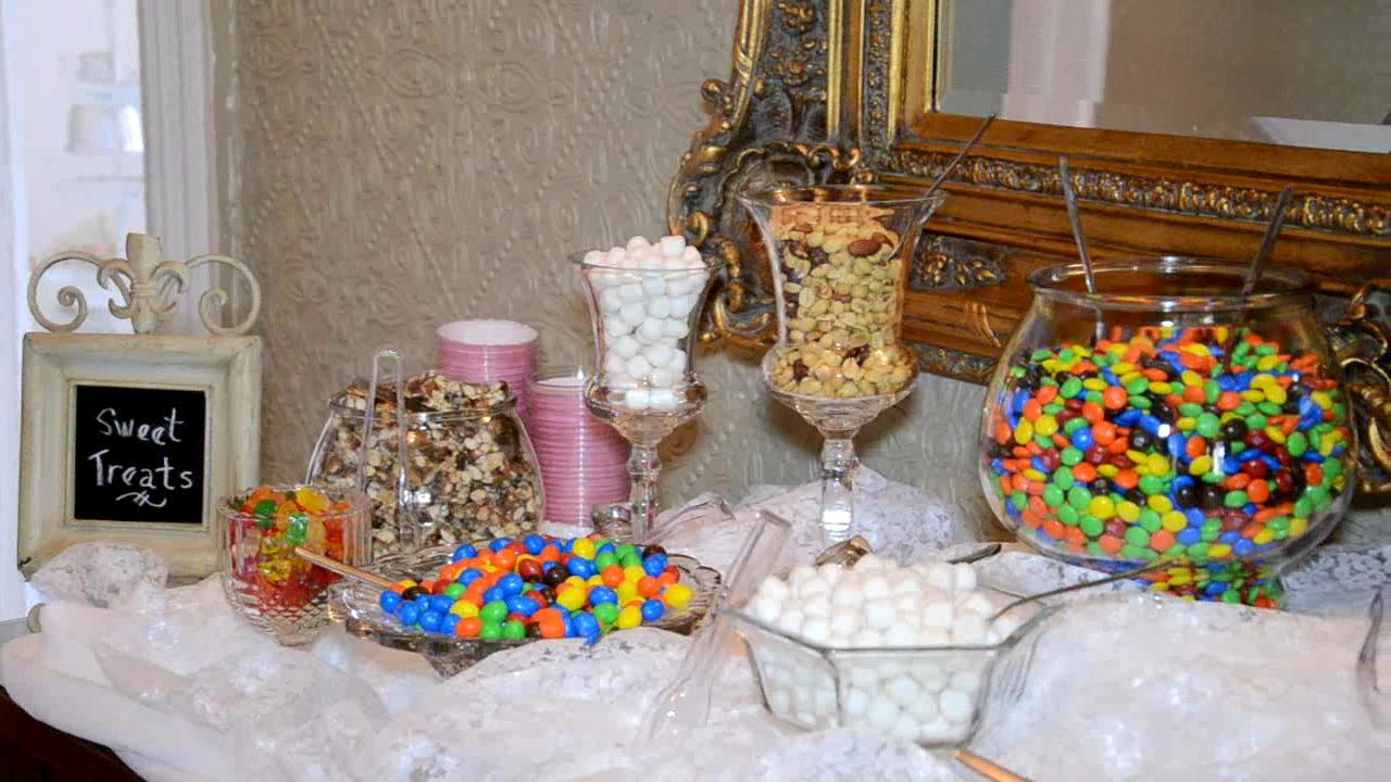 Wedding reception candy bar one day pinterest for Candy bar for weddings receptions