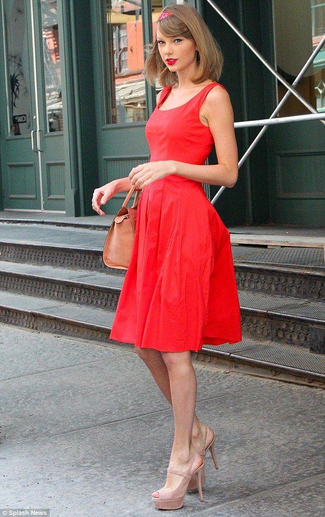 Red heels dress