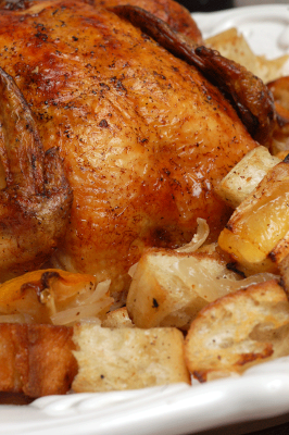 Ina Garten's Lemon Chicken with Croutons -- one of my favorite roast ...