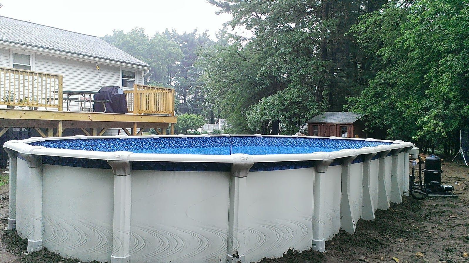 Pin by the above ground pool builder on 2013 and 2014 for Above ground pool installation