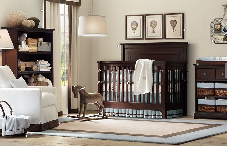 Soothing Room Colors Fascinating With Blue and Brown Baby Boy Nursery Idea Photos