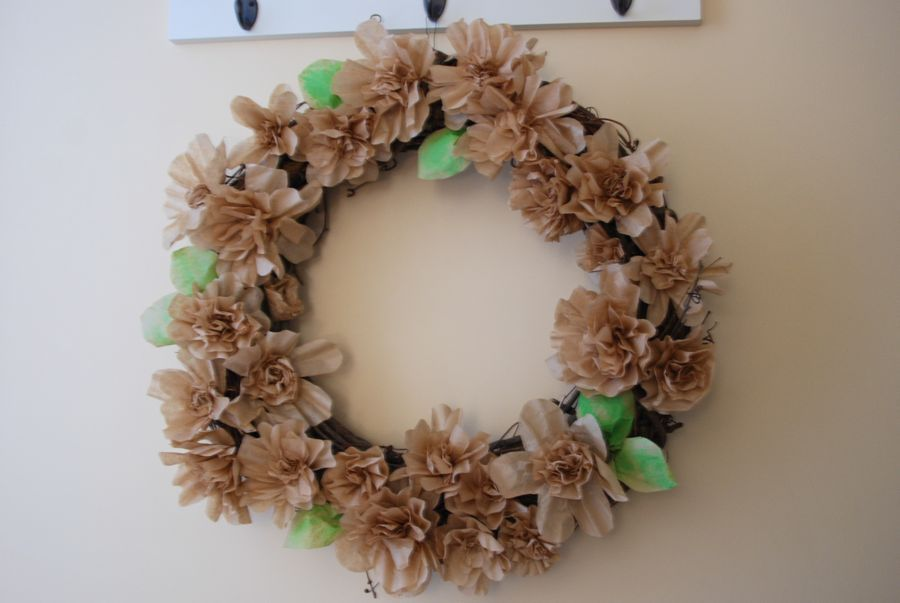 Coffee Filter Wreath | Coffee Filter Art | Pinterest