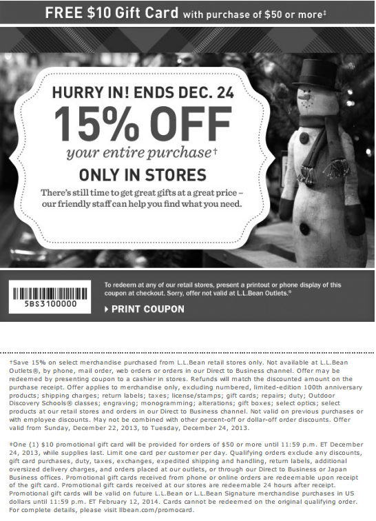 image relating to Llbean Printable Coupon named Ll bean coupon codes / Cilory discount codes 2018