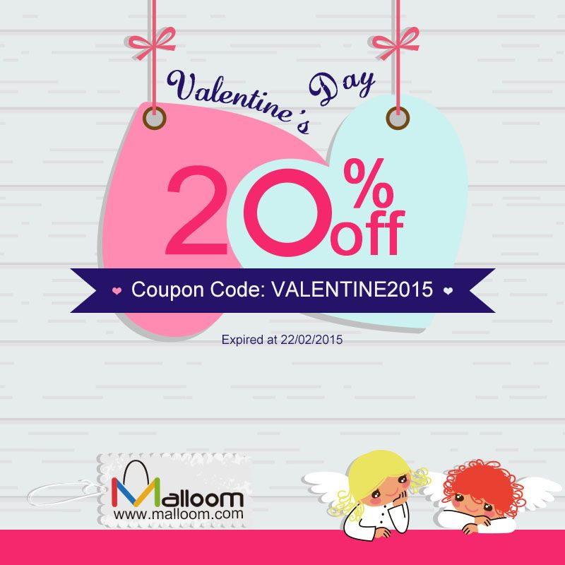 20% off for Valentine's day