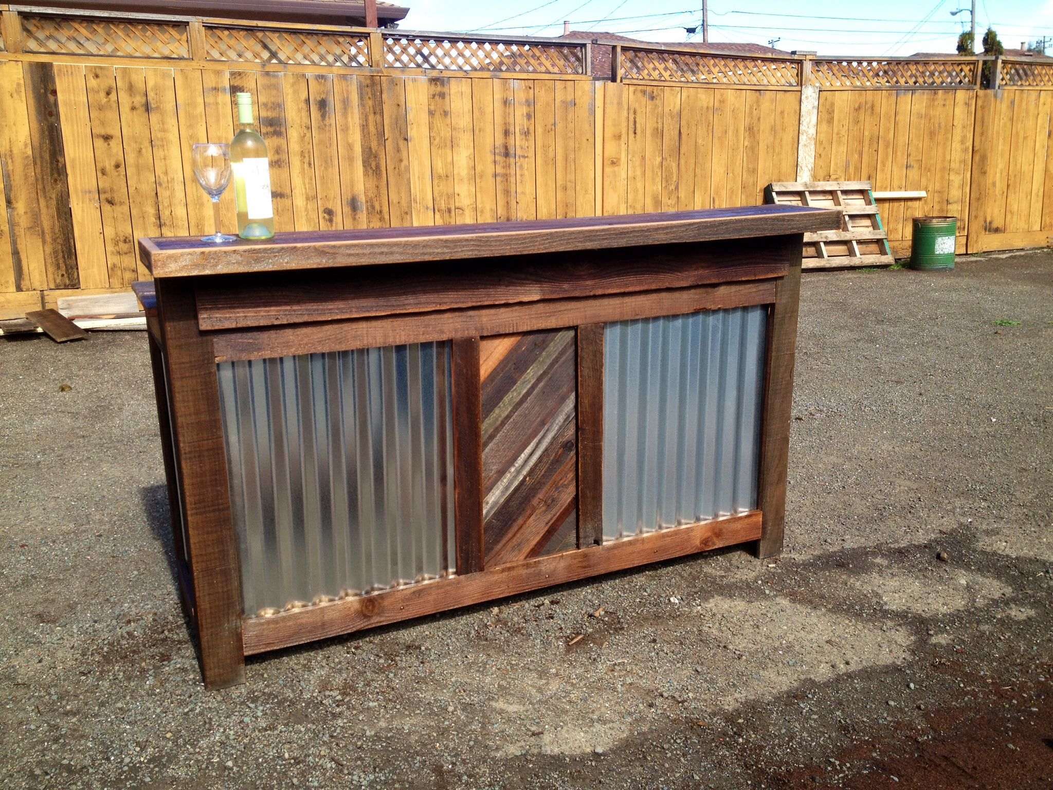 Rustic bar rustic outdoors pinterest for Rustic log bar