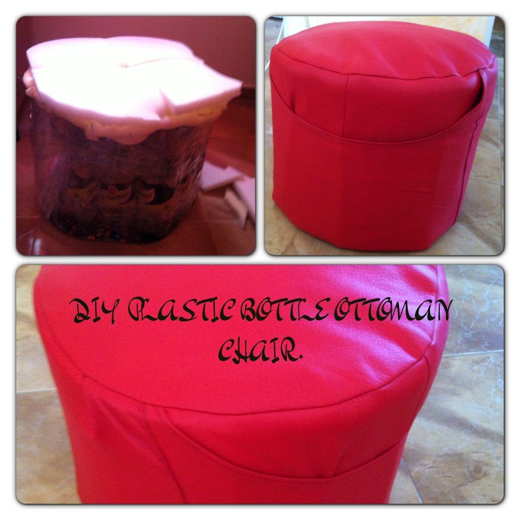 Diy plastic bottle ottoman chair reciclado pinterest for Diy plastic
