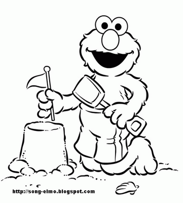 Elmo Birthday 2 Coloring Pages