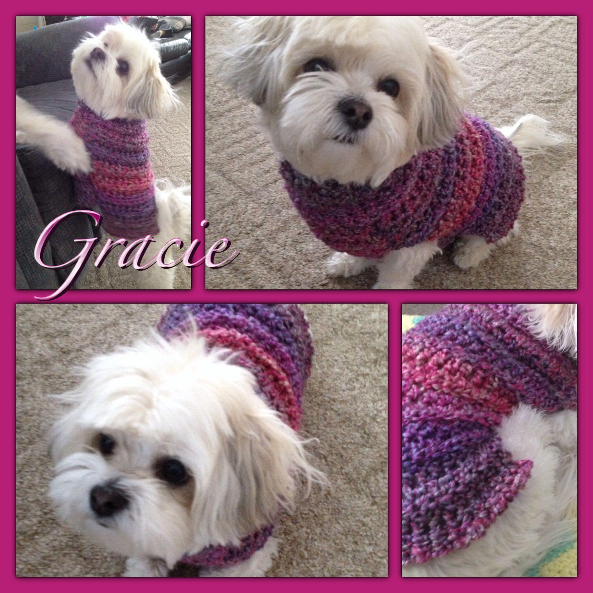 Crocheting Dog Sweater : Crochet dog sweater Crocheting and Knitting Pinterest