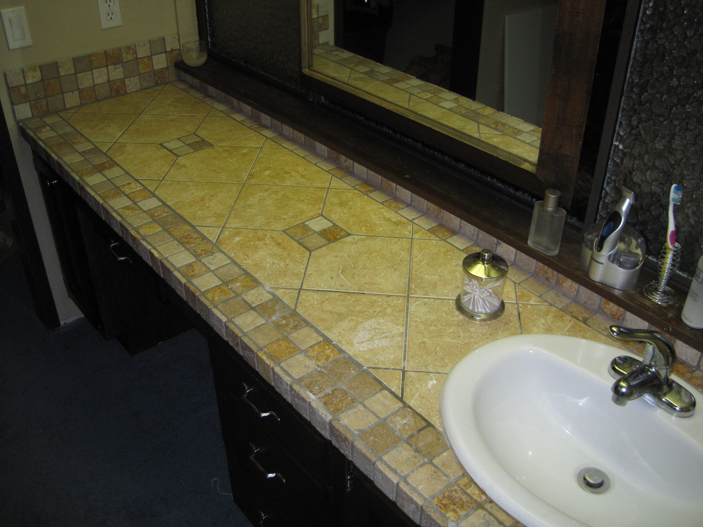 bathroom tile countertop diy backsplashes tiling ideas