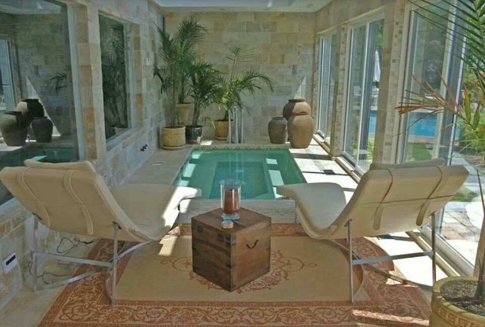 Small Indoor Pool Spa Area Home Decor Inside Out