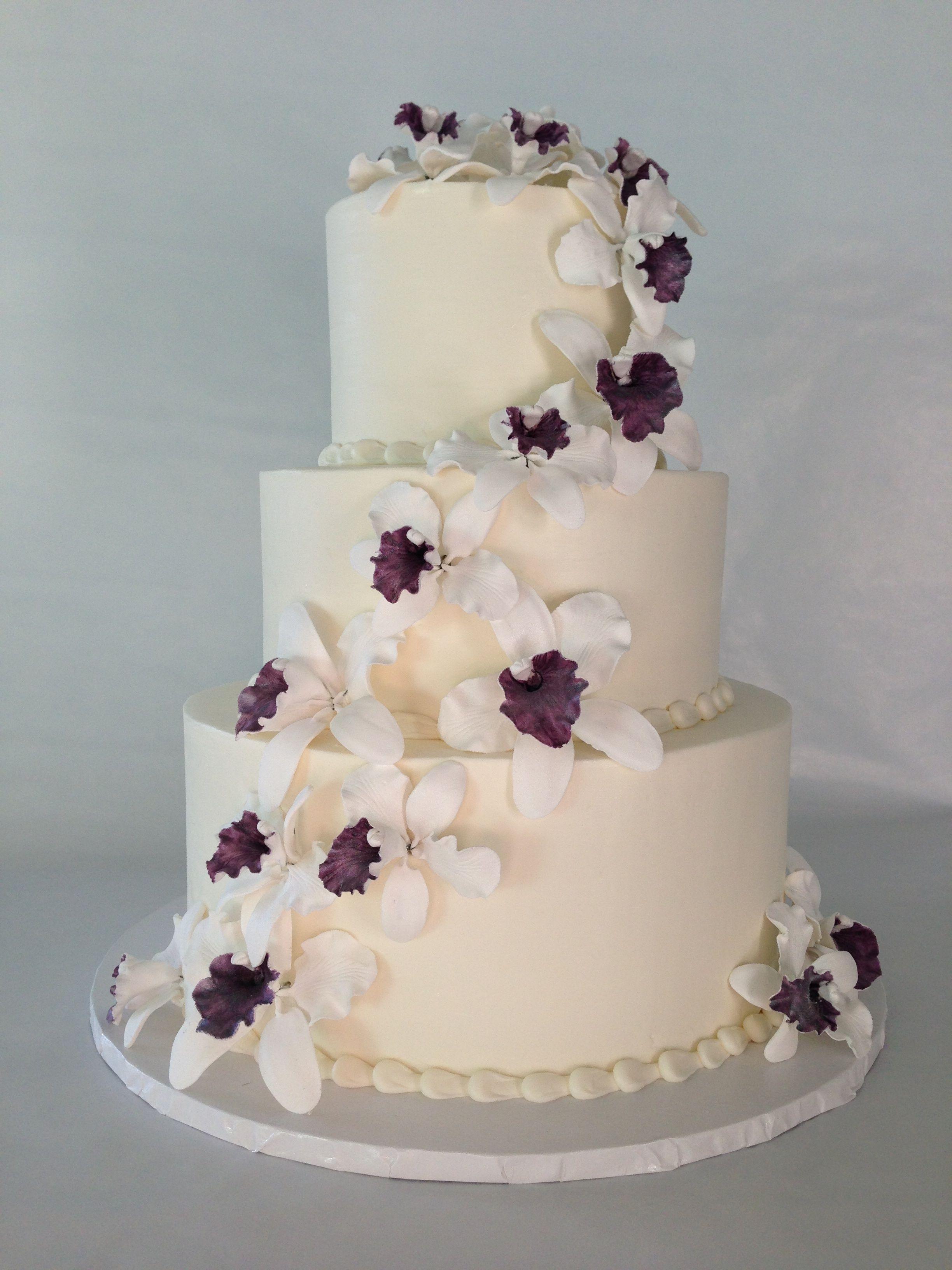 orchid wedding cake cake pinterest