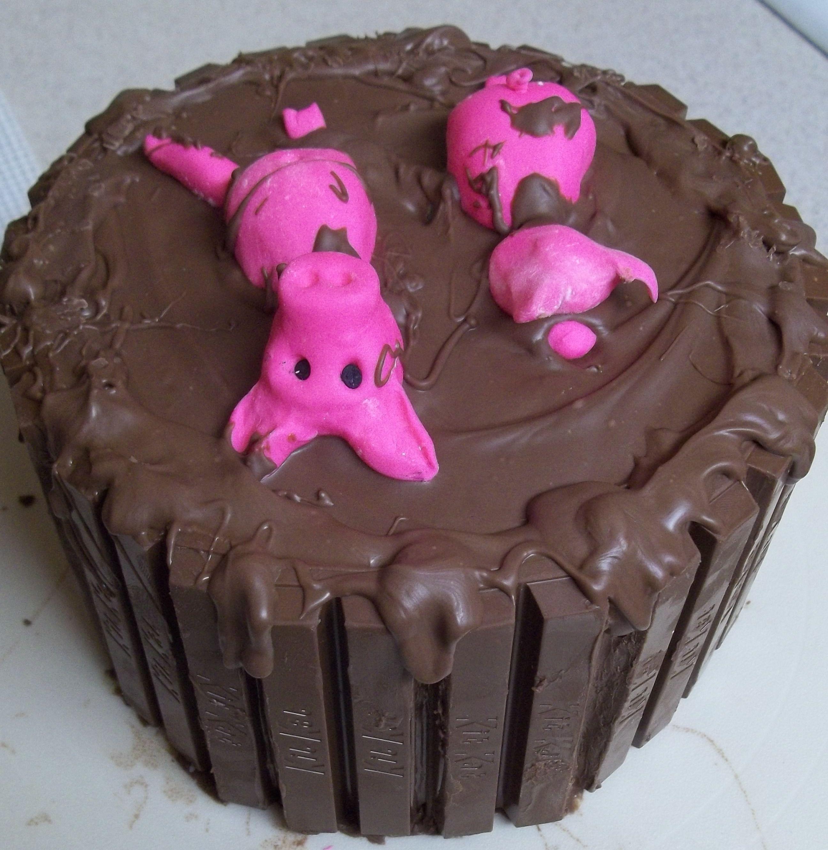 Pig Pen Birthday Cake
