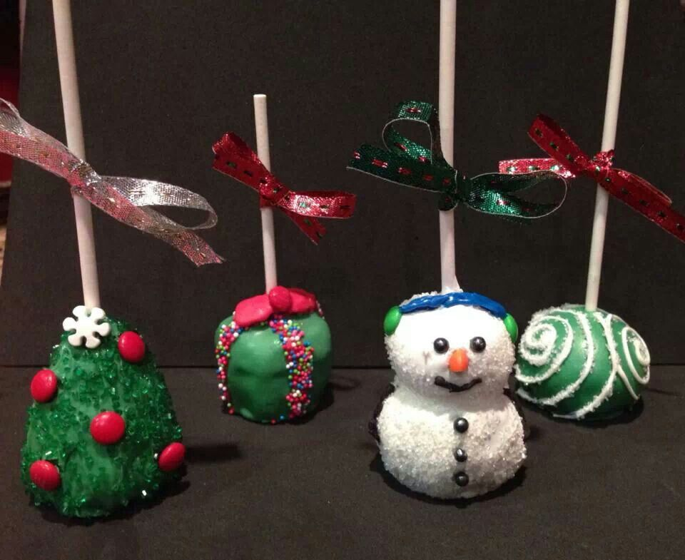 Cake Balls Decorated For Christmas : Christmas cake pops Christmas Decorations & Ideas ...