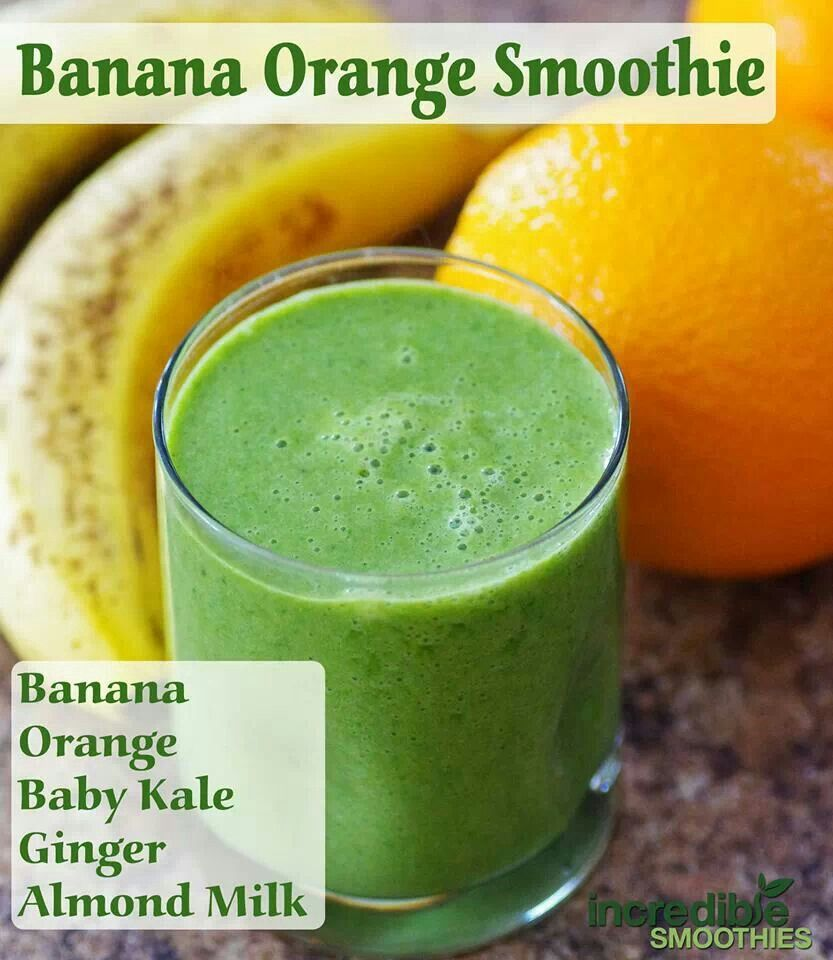 Banana orange baby kale smoothie | Yummy Foods & Drinks | Pinterest