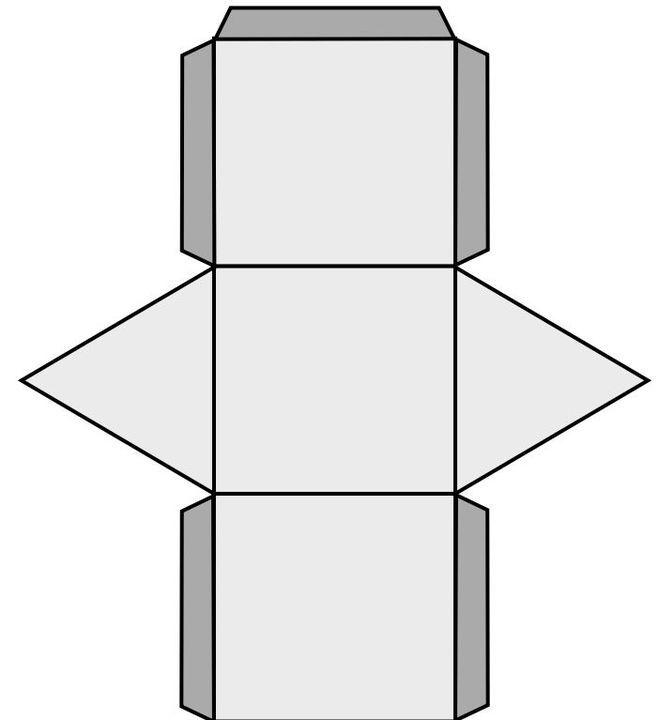 Как сделать из картона призма
