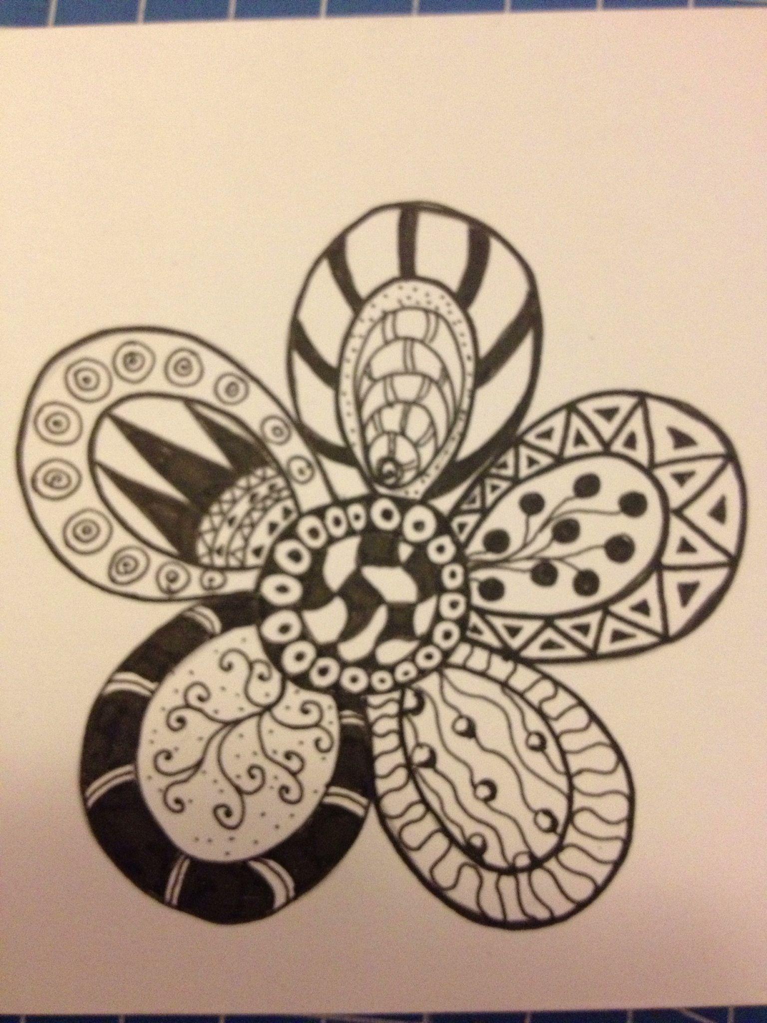 Zentangle flower Patterns