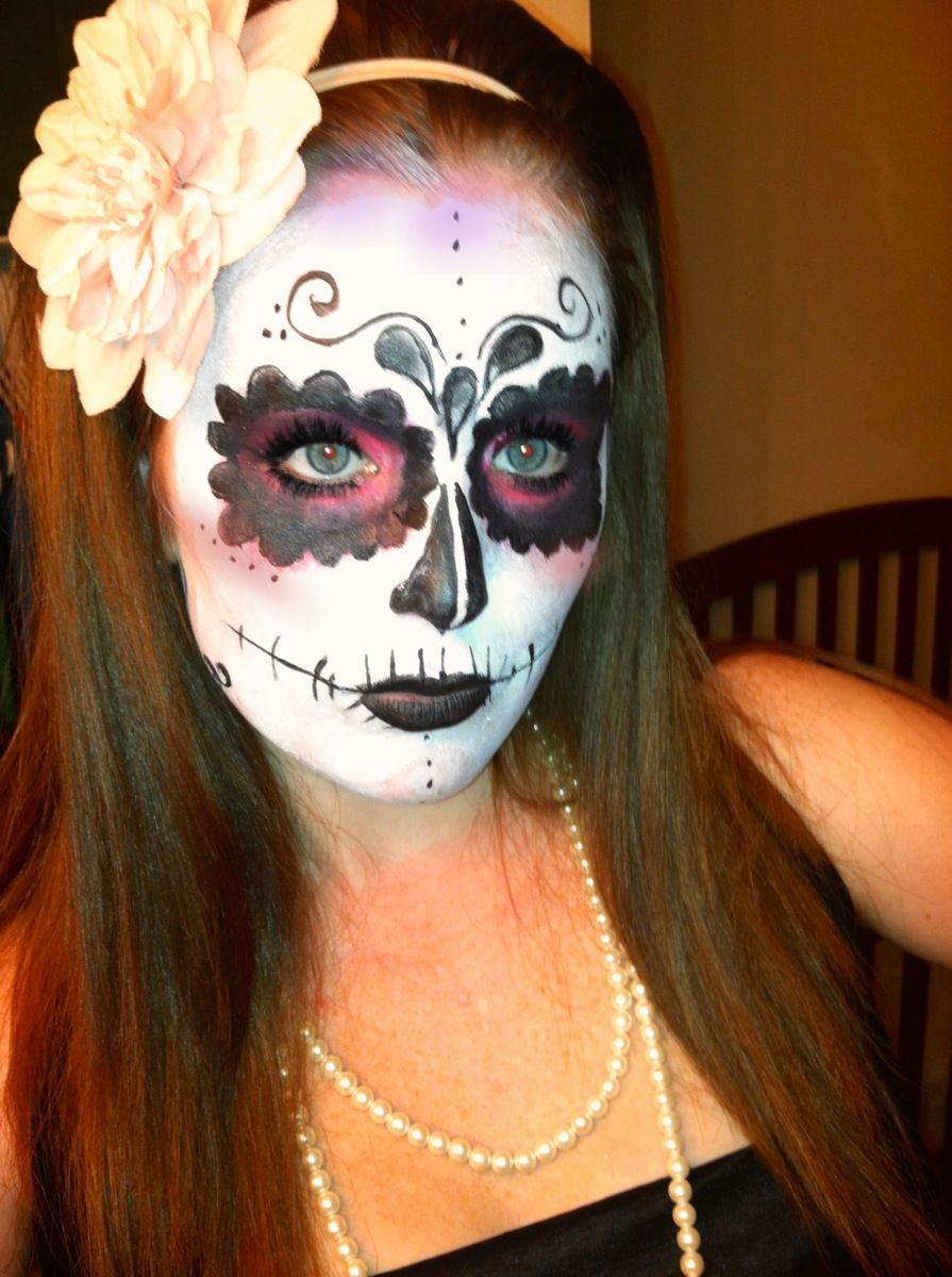 how to make sugar skull makeup