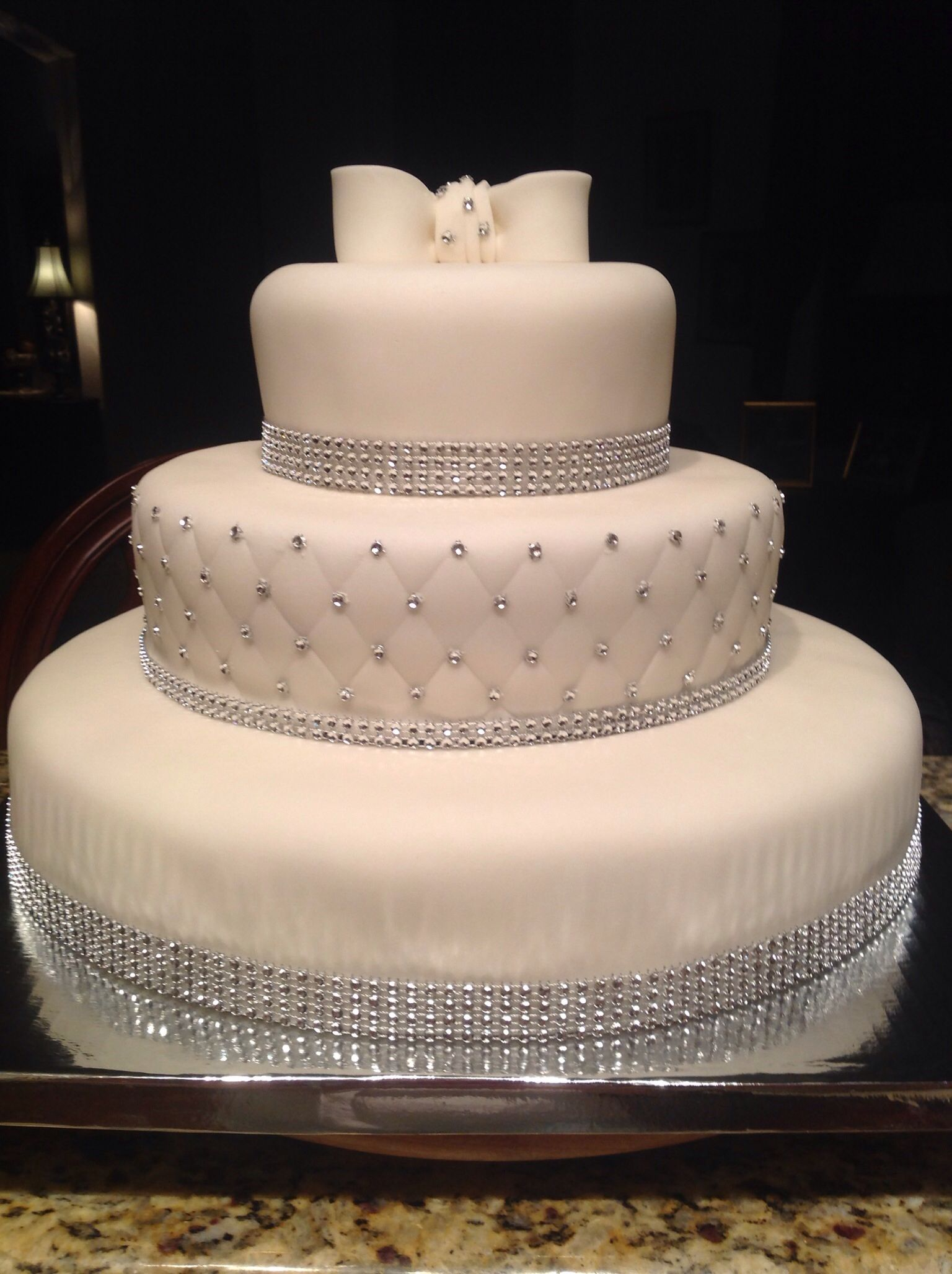 Wedding Cake With Bling Wedding Pinterest