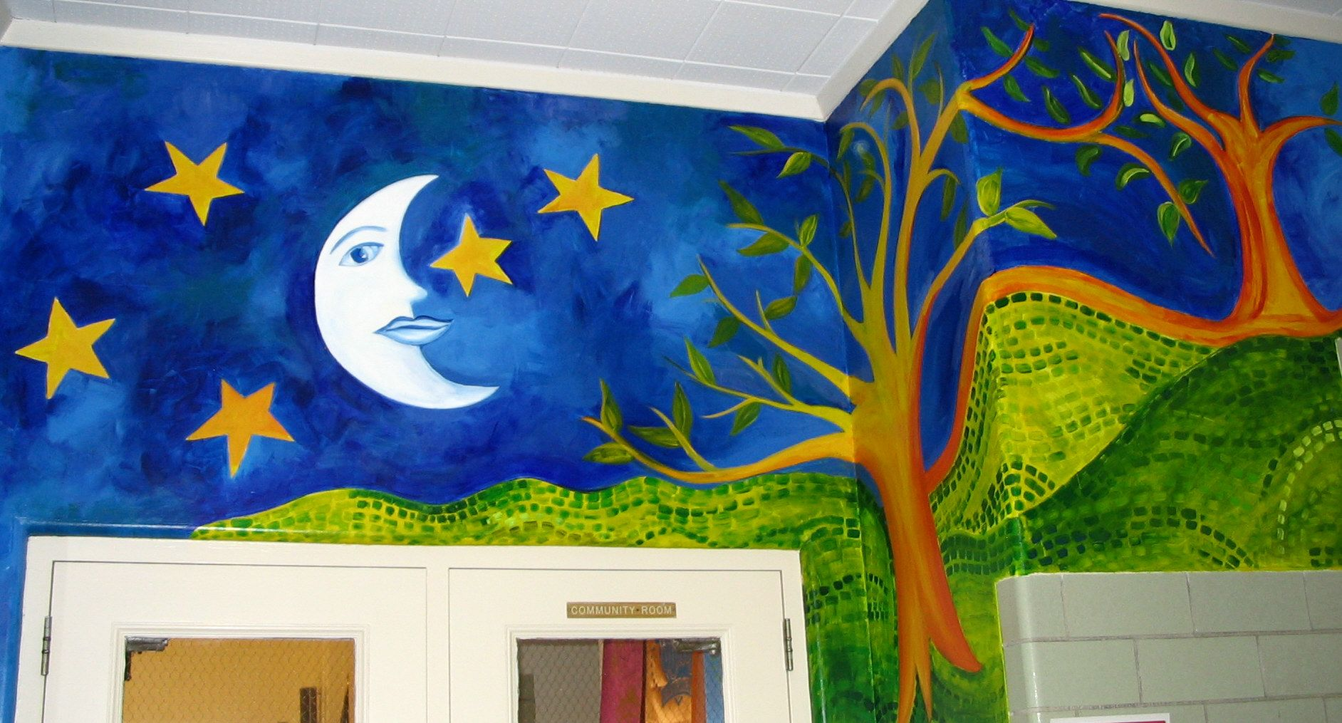 elementary school mural jan wilson mural and school