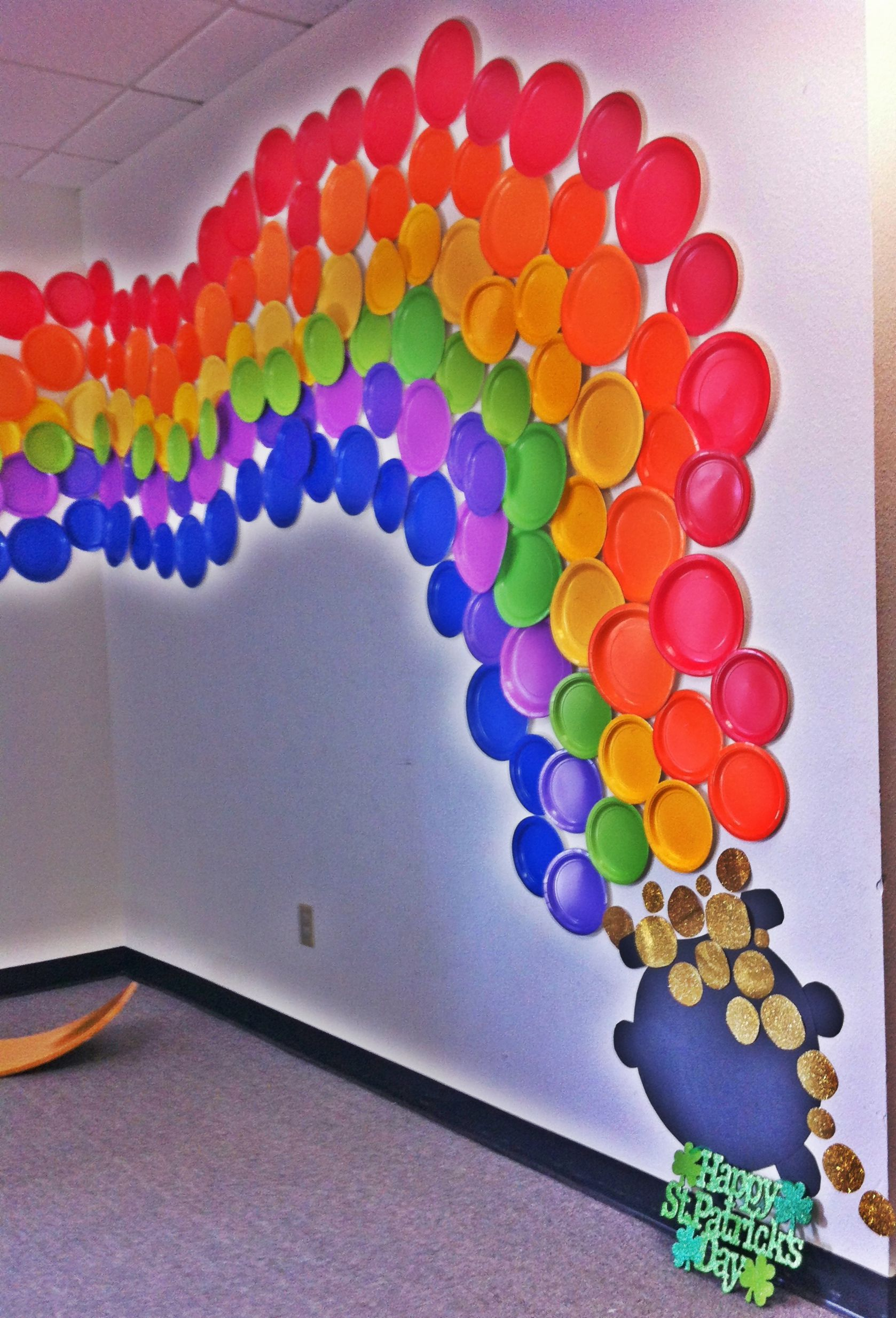 Rainbow wall decor to liven any office colors pinterest for Art and decoration