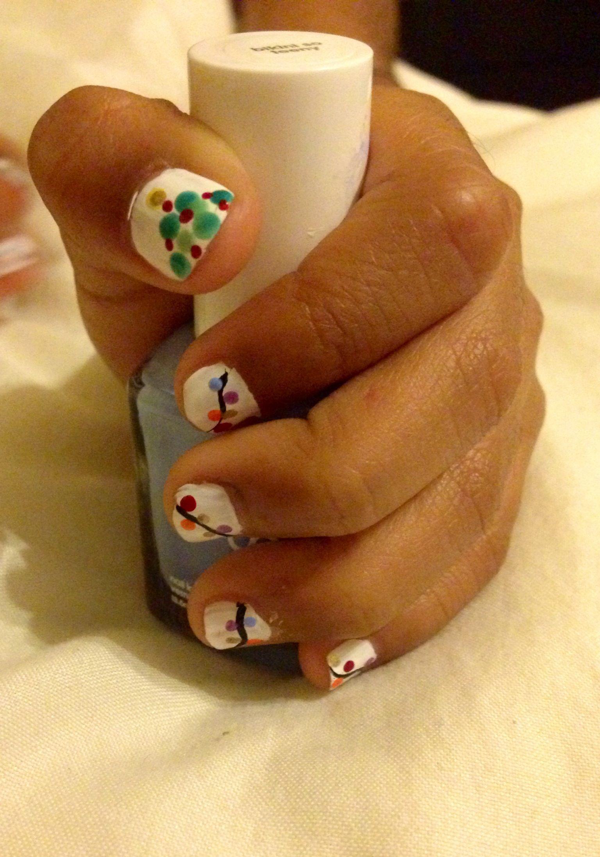 Little Girl Nail Art For Christmas Mia 39 S Nail Art Pinterest