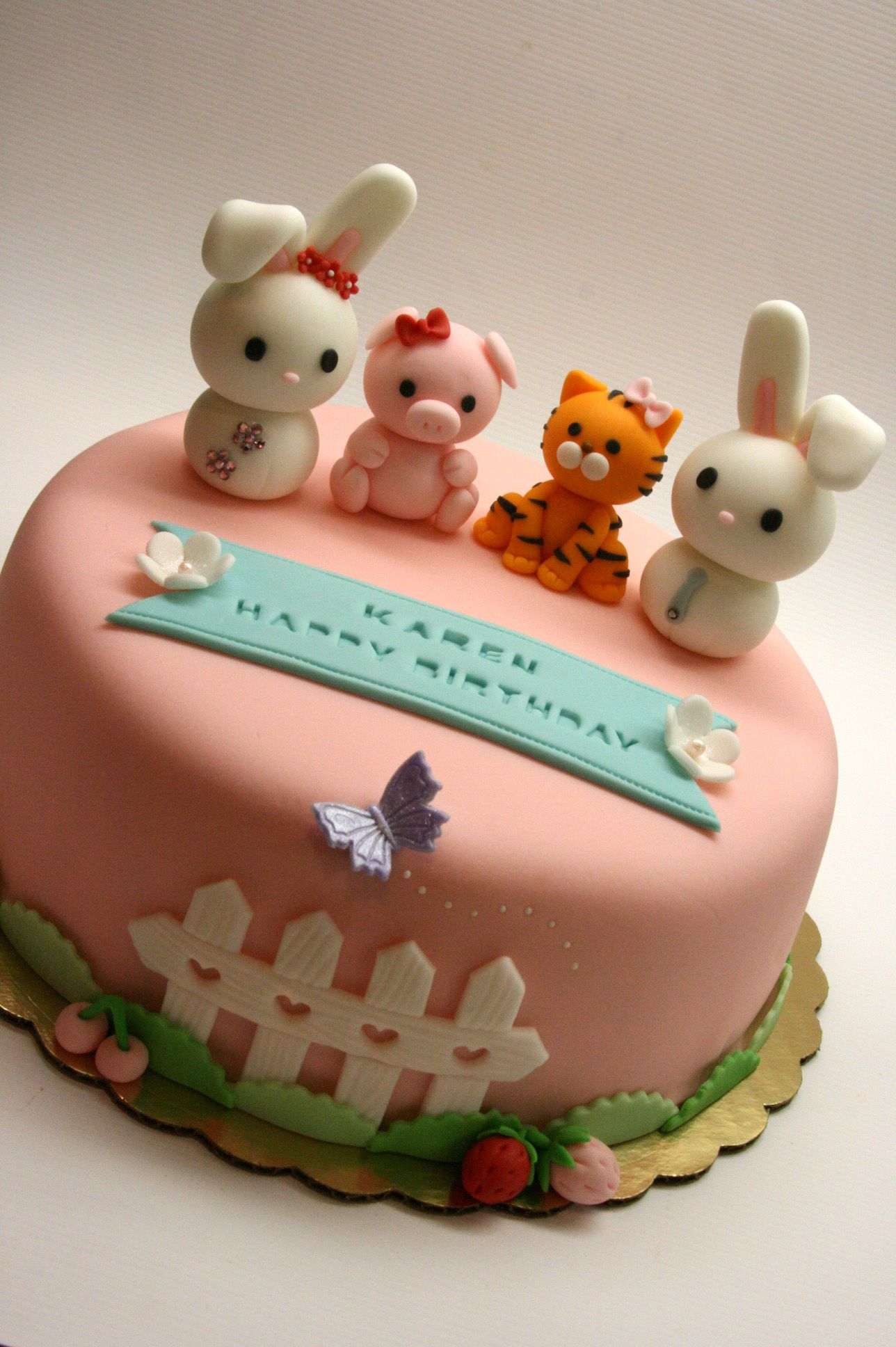 Pin Cute Animal Fondant Cupcake Toppers Cake On Pinterest
