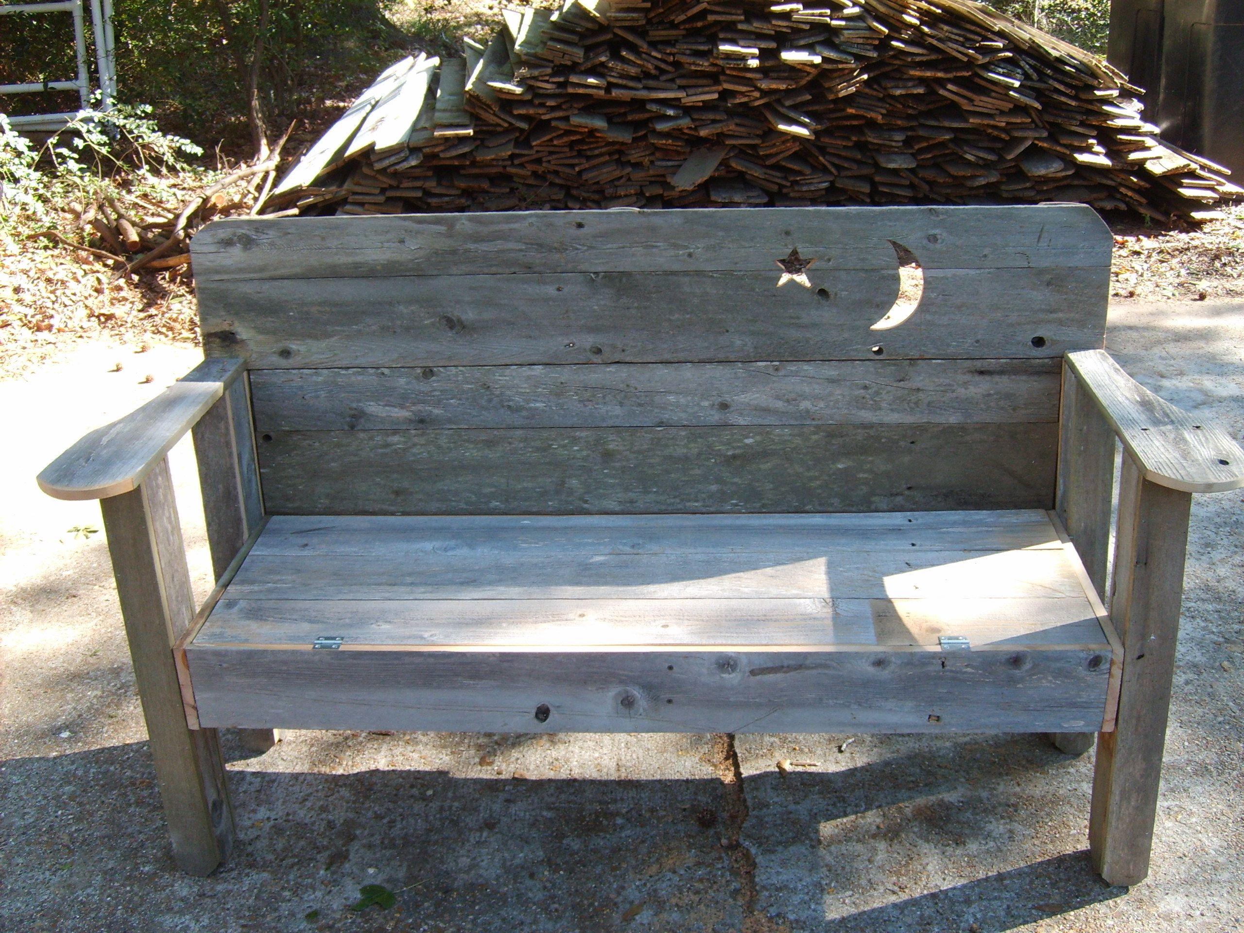 Rustic Garden Bench Steve 39 S Birdhouse Board Pinterest