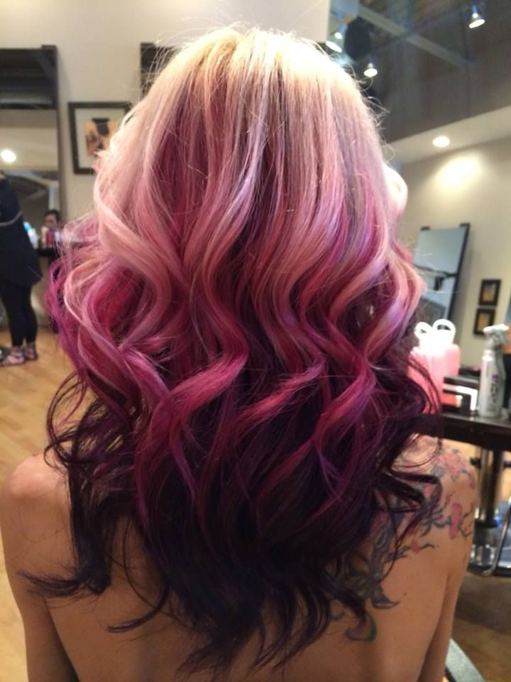 blonde purple and pastel ombre hair beauty hair