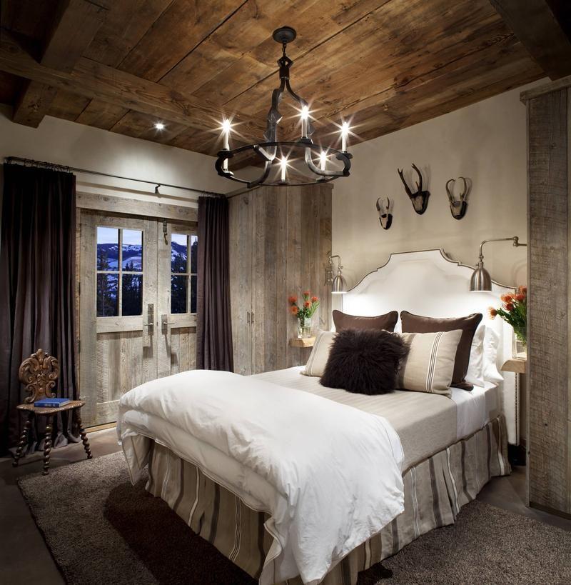Спальня в деревенском доме фото