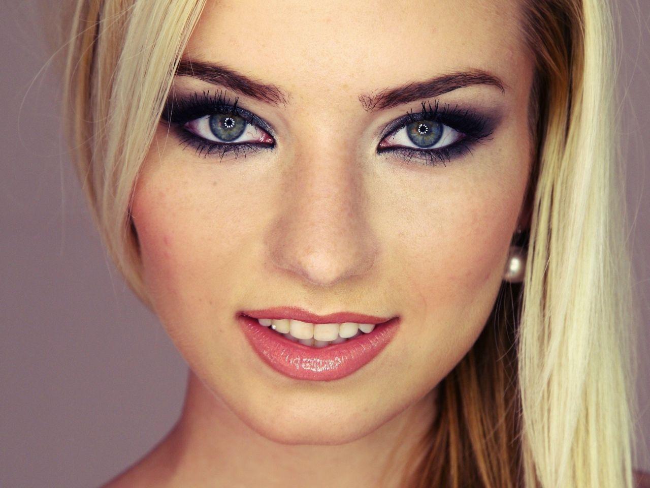 Фото макияжа для голубоглазых