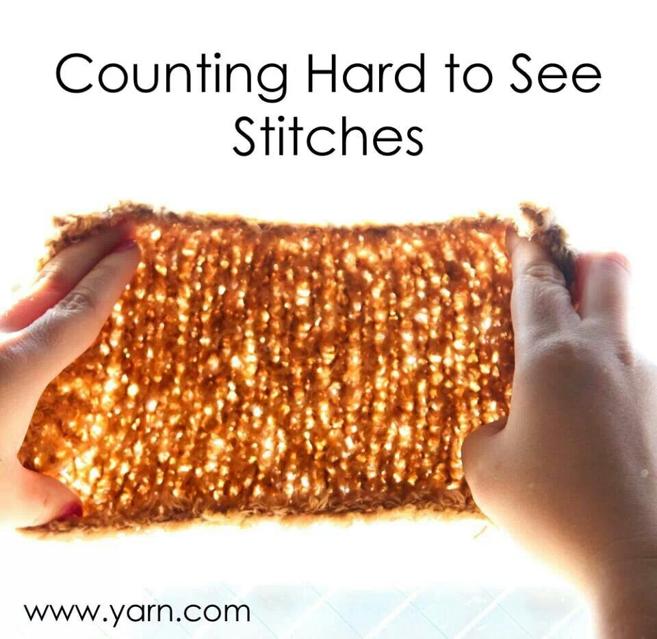 Crochet Stitches Counting : Counting stitches Sewing, Knitting & Crochet Pinterest