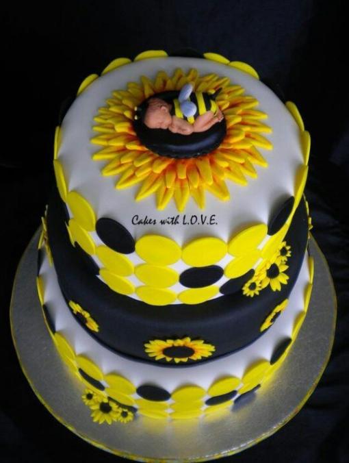sunflower baby shower cake baby shower ideas pinterest