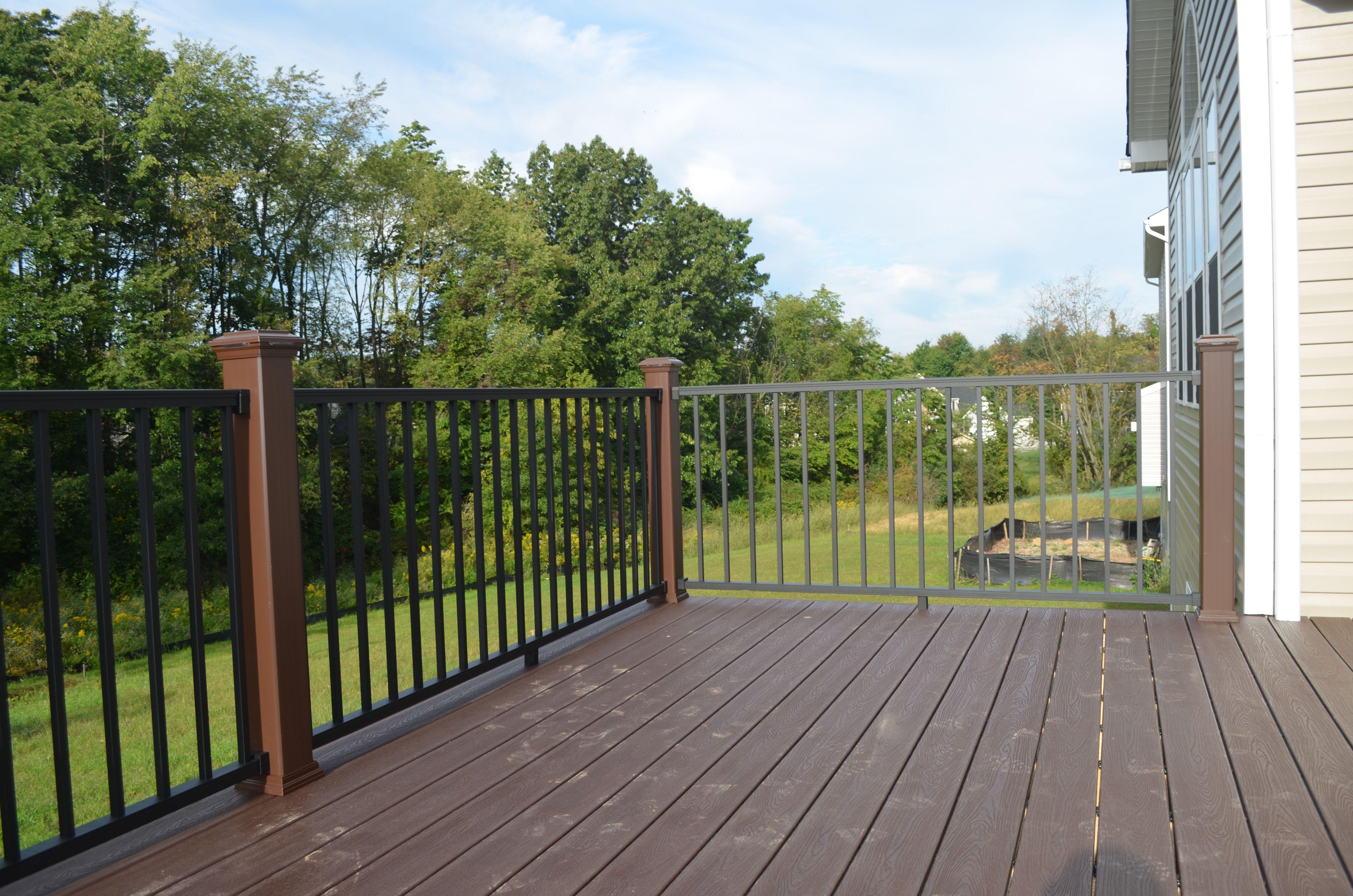 Low maintenance deck nice railing low maintenance for Low maintenance deck plants