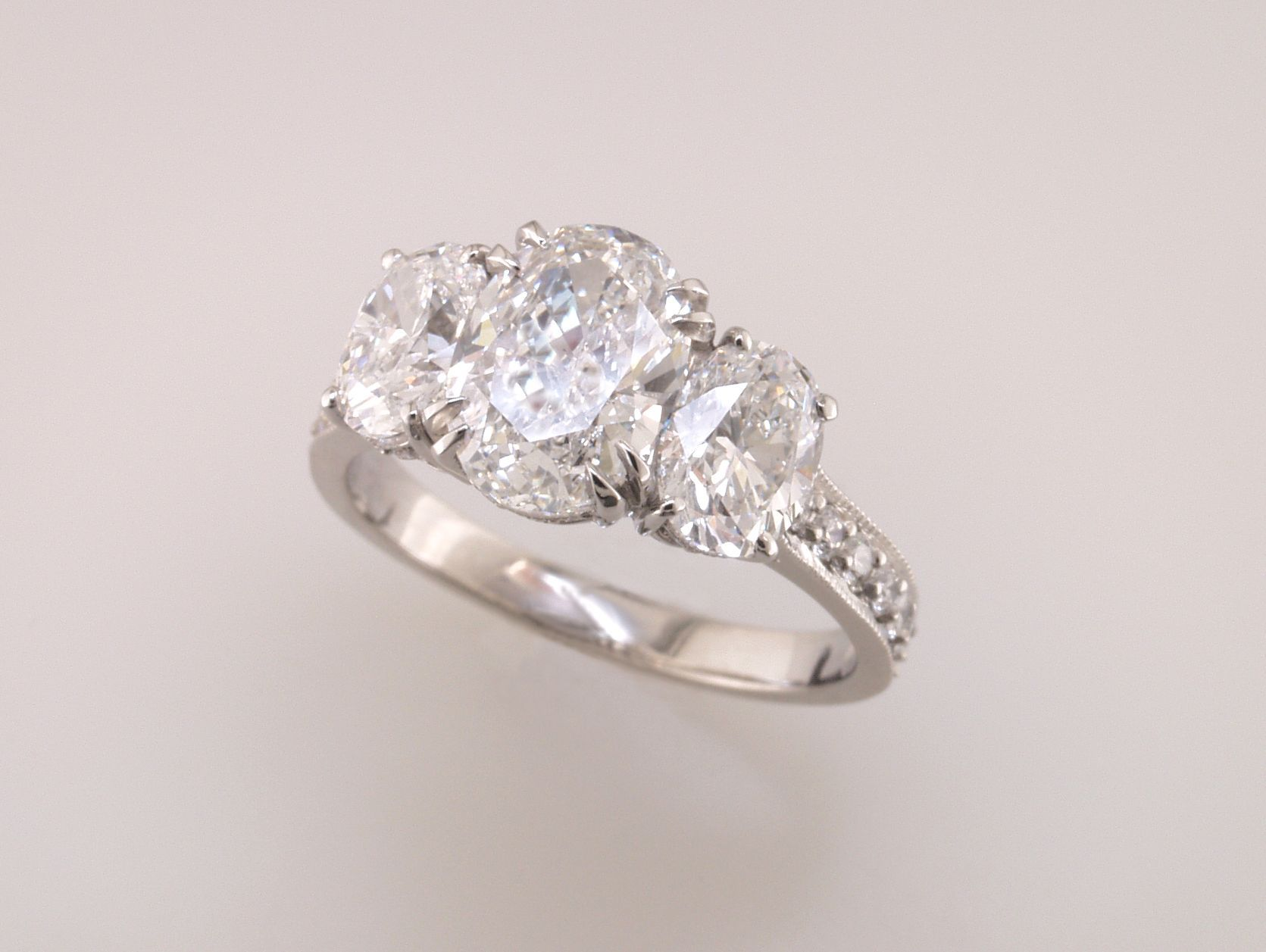 3 stone oval engagement ring Engagement Rings