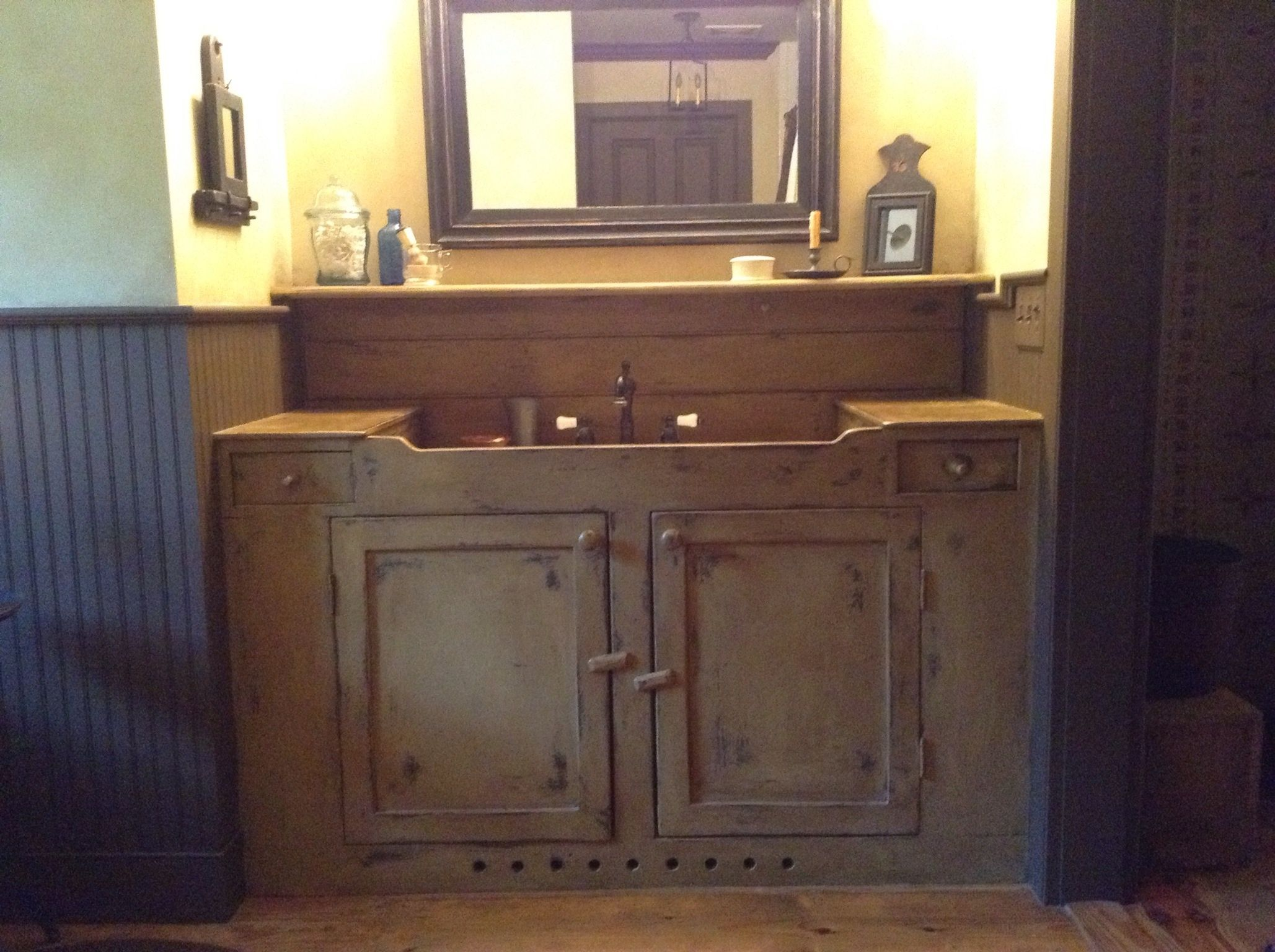 Primitive bathroom vanities