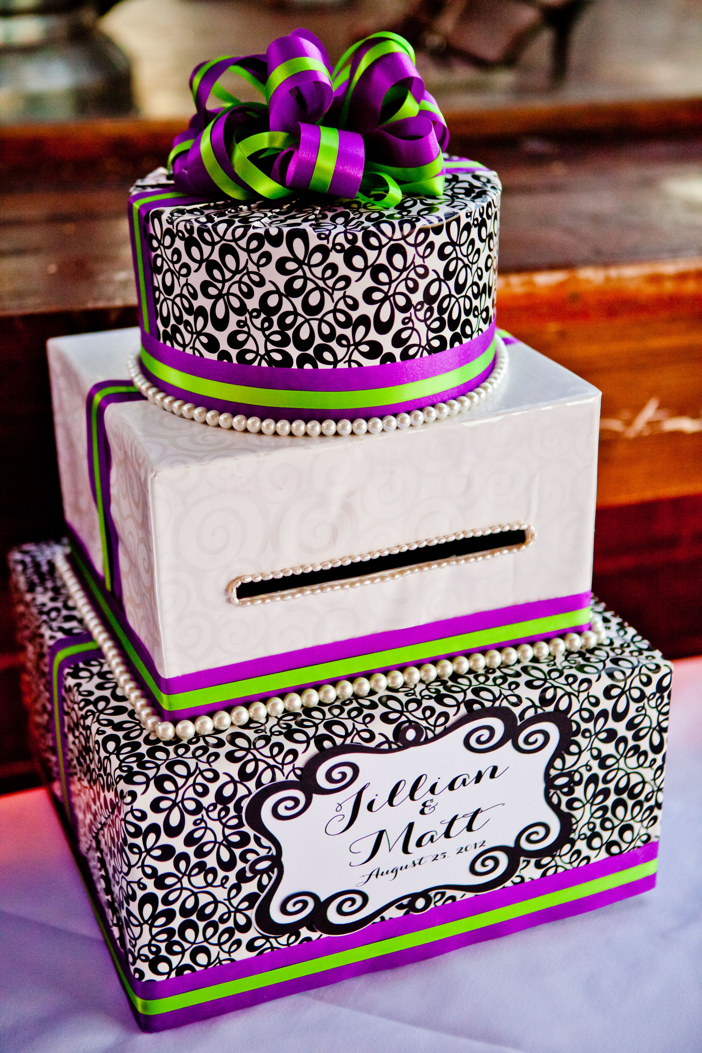 Our wedding cake gift card holder Wedding stuff Pinterest