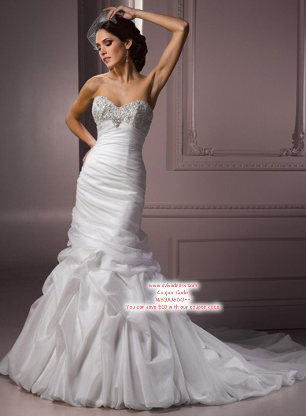 Trumpet mermaid wedding dress wedding dresses mermaid for Mermaid sweetheart neckline wedding dress