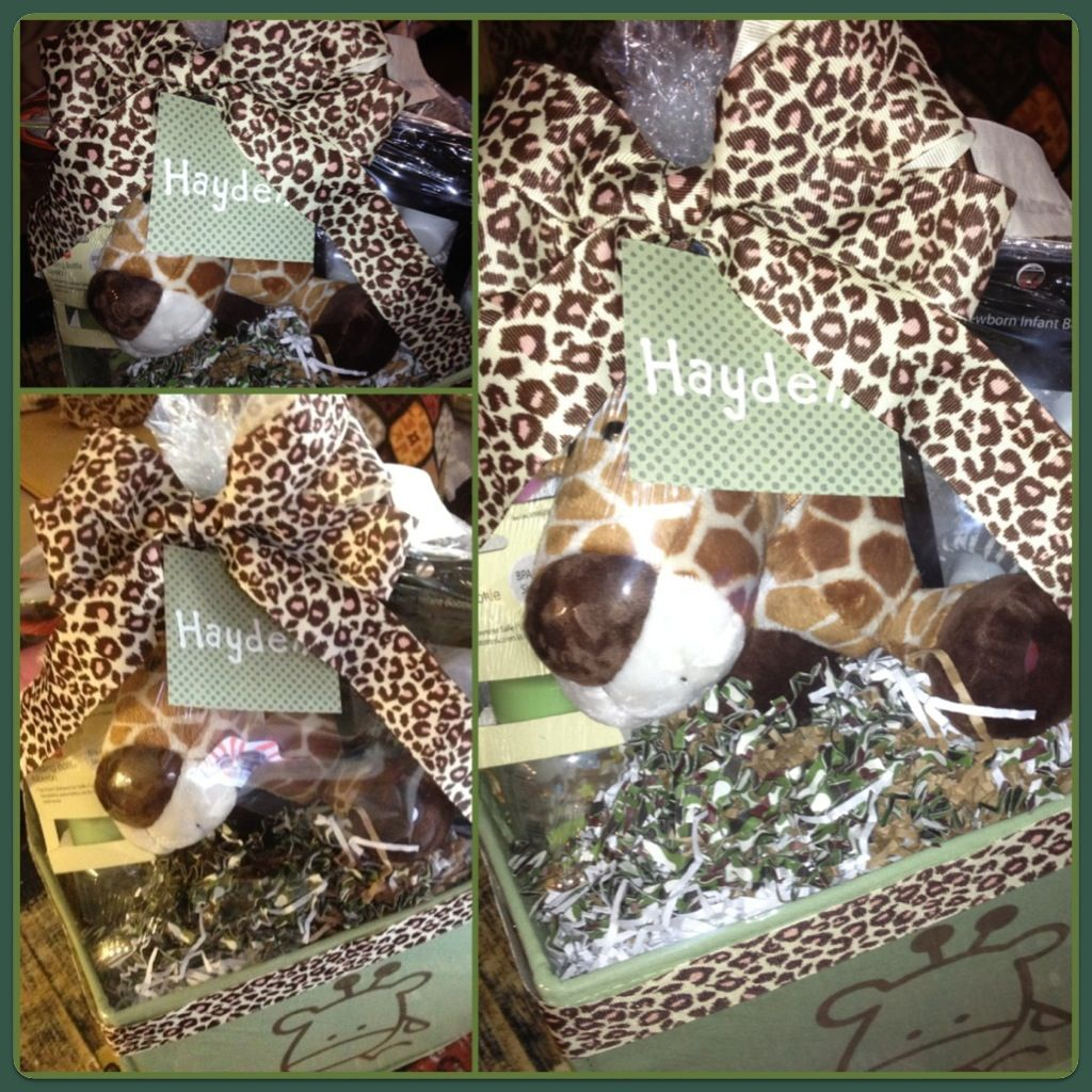 baby shower gift giraffe theme basket baby baby shower ideas pin