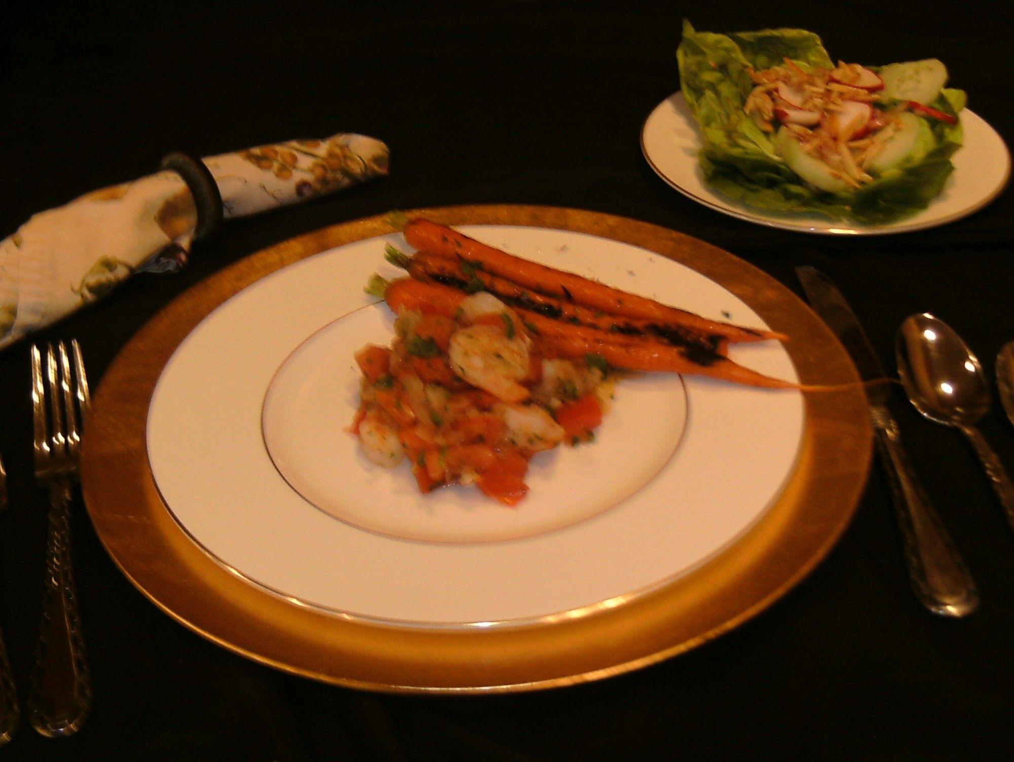 Shrimp And Cucumber Salad With Horseradish Mayo Recipe — Dishmaps