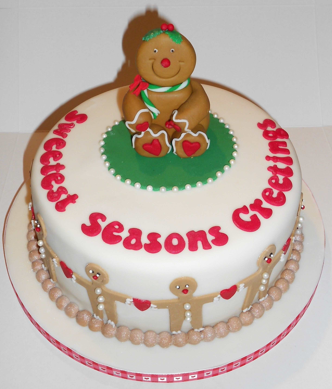 Christmas Cake Images Pinterest : Gingerbread lady Christmas Cake Christmas Cakes Pinterest