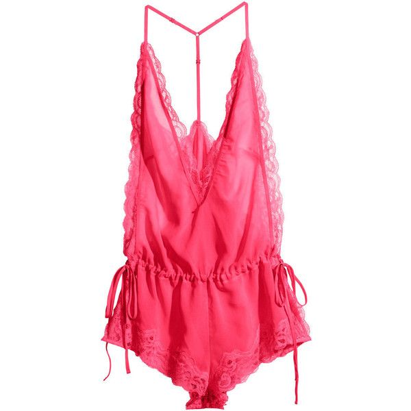 H&M Teddy ($21) ❤ liked on Polyvore featuring intimates, lingerie ...