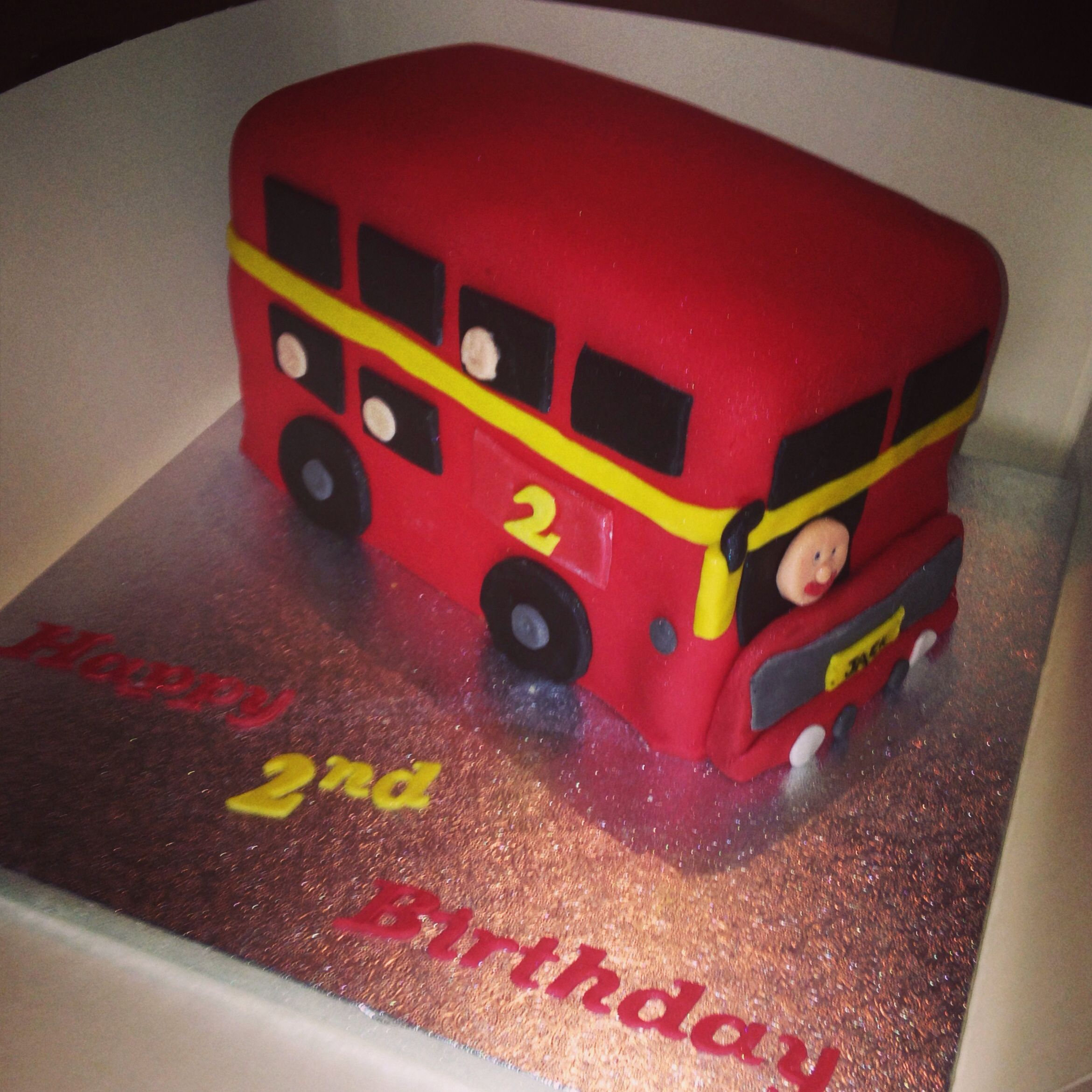 Red Bus Birthday Cake