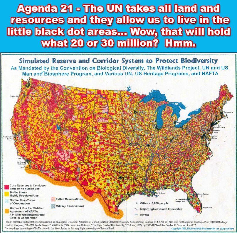 Image result for Un Agenda 21 Depopulation Map