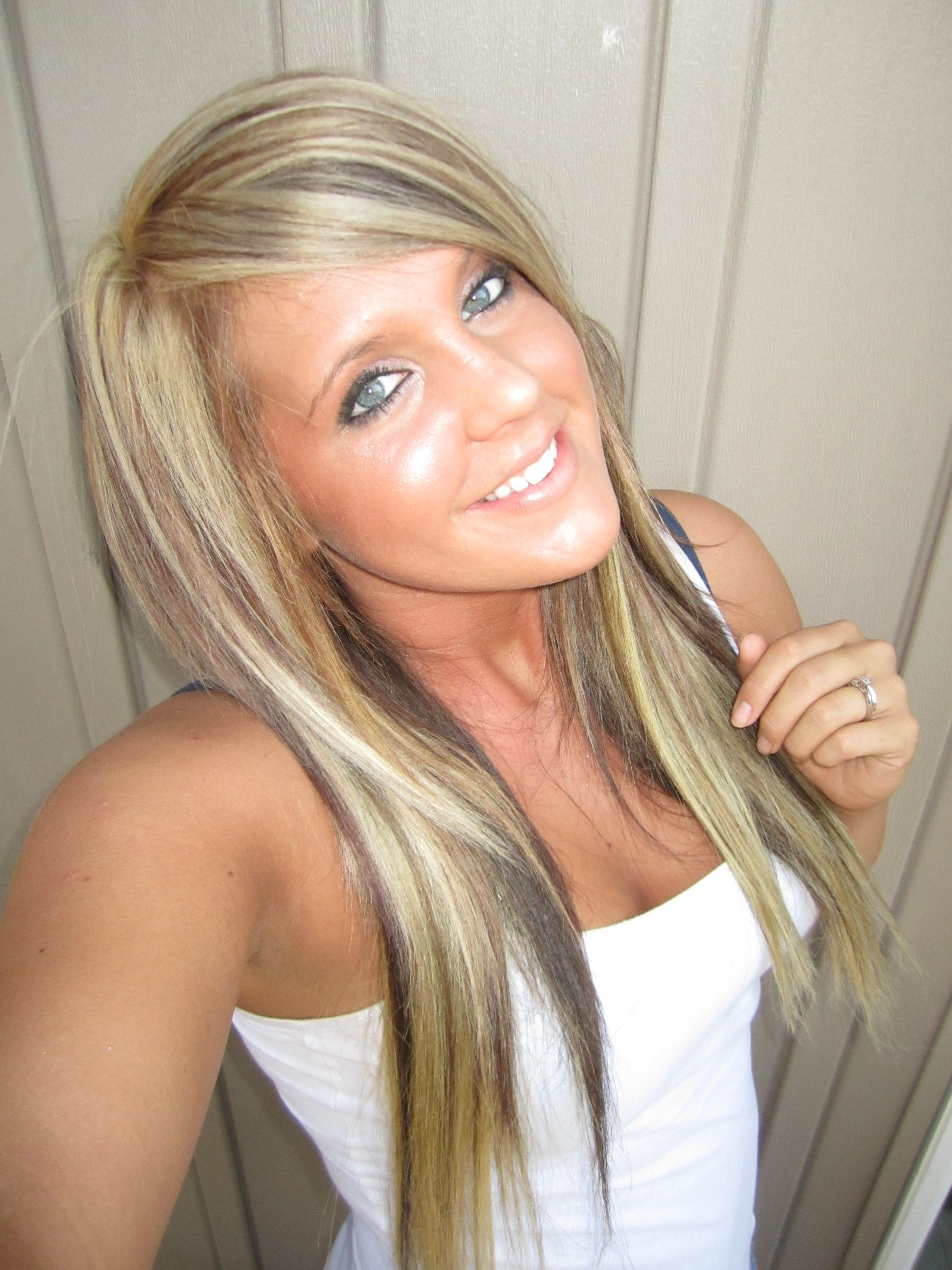 blonde highlights and low lights hairstyles makeup pinterest